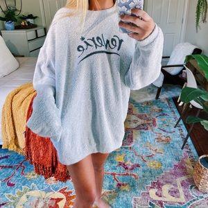 reverie ☕️ // cozy plush oversized pullover